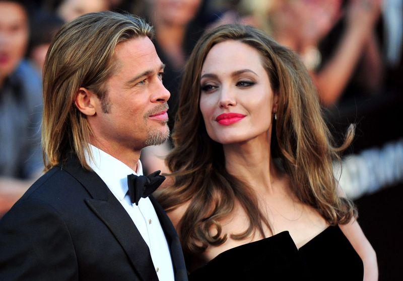 Sul red carpet con Brad Pitt (foto Kevin Dietsch)