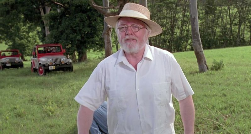 Richard Attenborough nei panni di John Hammond