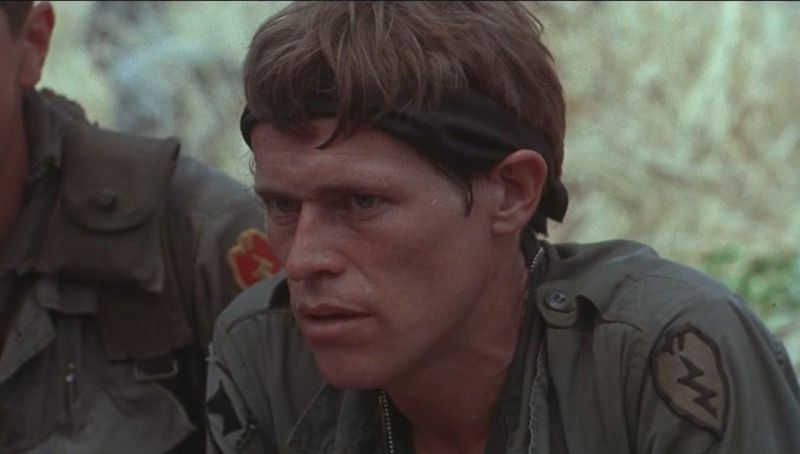 """Willem Dafoe in """"Platoon"""""""