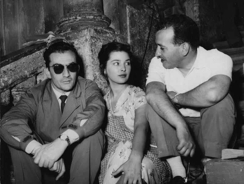"""""""Il Sole Negli Occhi"""": Irene Galter tra Luchino Visconti e Antonio Pietrangeli (foto di GB Poletto)"""