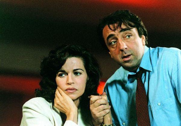 Con Anna Galiena nel film del 1995