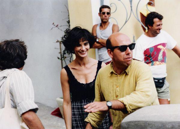 Paolo Virzì sul set con Laura Morante