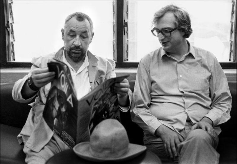 Bertrand Tavernier in uno scatto con Philippe Noiret