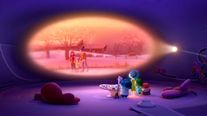 Le Emozioni ripercorrono i ricordi ( ©2014 Disney•Pixar)