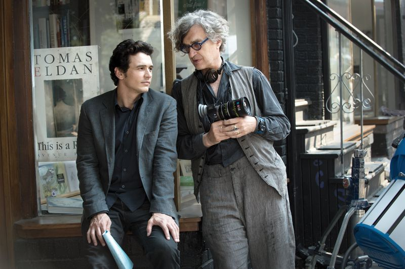 Wim Wenders sul set con James Franco