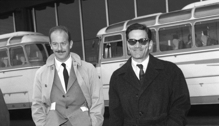 Alfredo Bini con Pier Paolo Pasolini