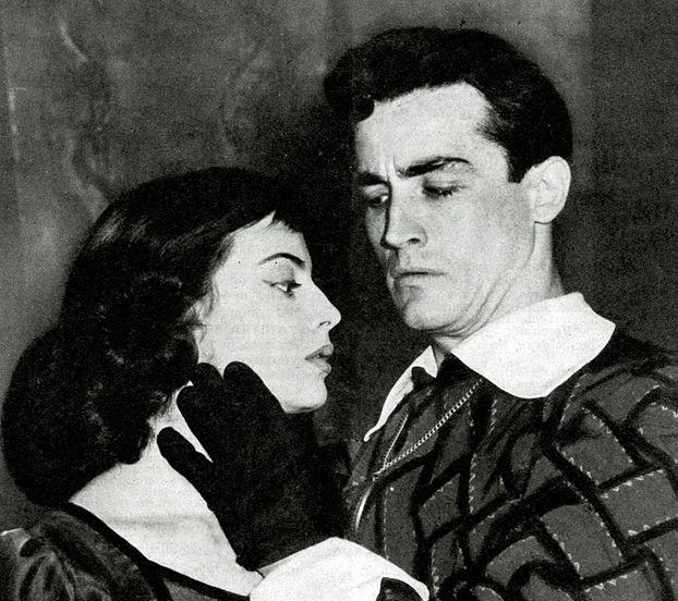 """Con Anna Maria Ferrero in """"Amleto"""""""