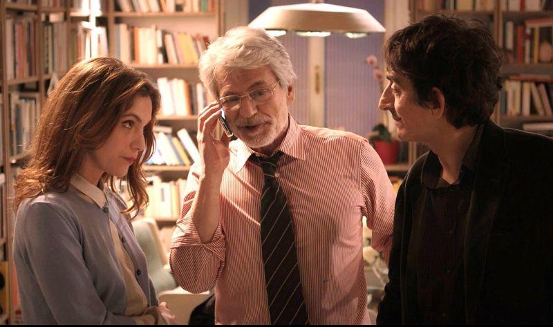 Sergio Rubini con Fabrizio Bentivoglio e Isabella Ragonese