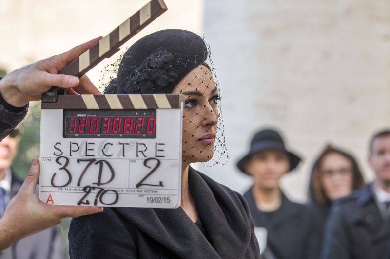Monica Bellucci sul set