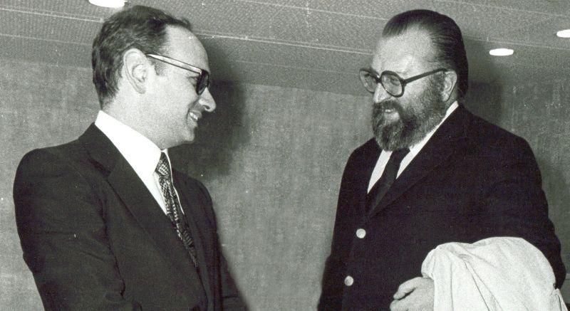 Ennio Morricone con Sergio Leone