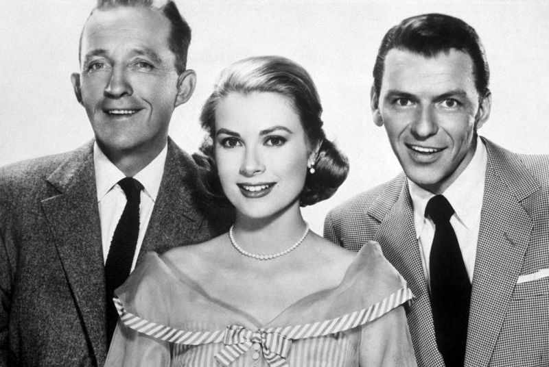 "Con Bing Crosby e Grace Kelly in ""Alta Società"""