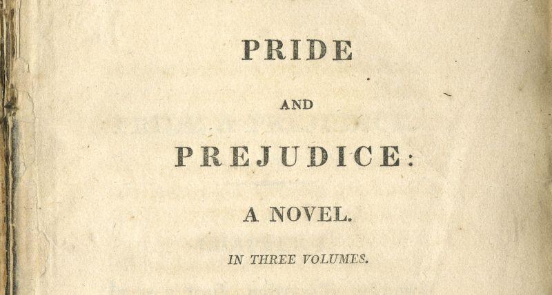 """La prima pubblicazione di """"Orgoglio e Pregiudizio"""""""