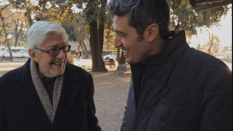 Ettore Scola con Pierfrancesco Diliberto