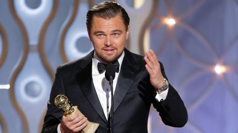 Leonardo DiCaprio con il Golden Globe 2016