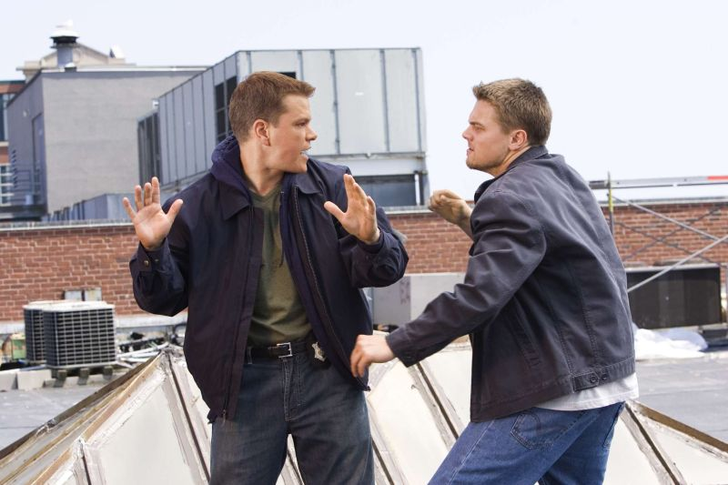 "Matt Damon e Leonardo DiCaprio in ""The Departed"""
