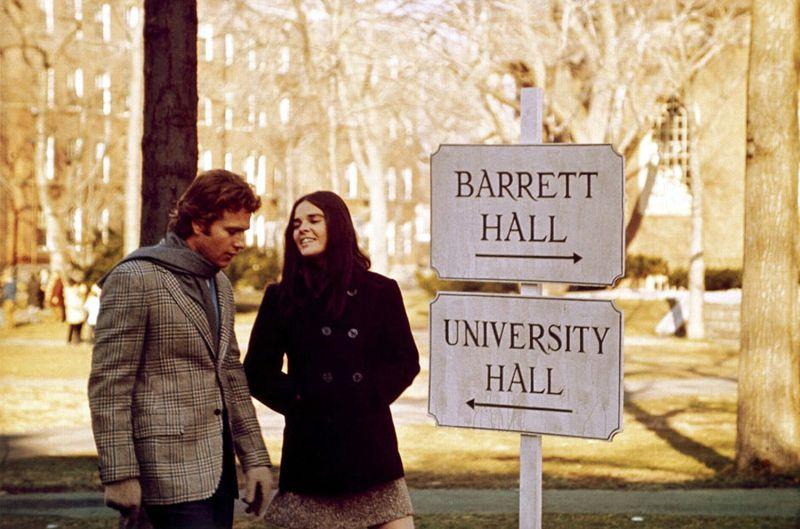 """...e nel film """"Love Story"""" nel 1970"""