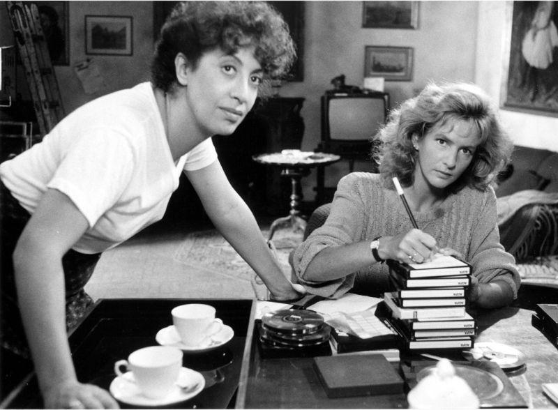 """Uno scatto sul set di """"Speriamo Che Sia Femmina"""" di Mario Monicelli (1986)"""
