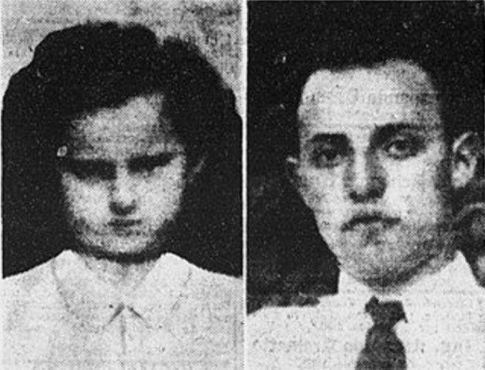 Maria Franco (in una foto da bambina) e Davide Bellomo