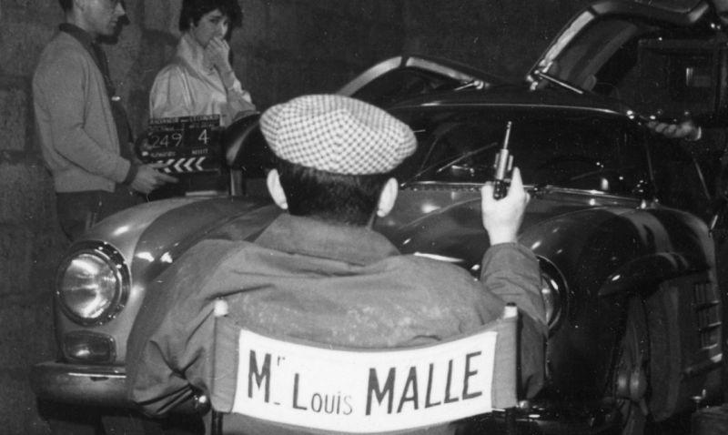 Louis Malle sul set