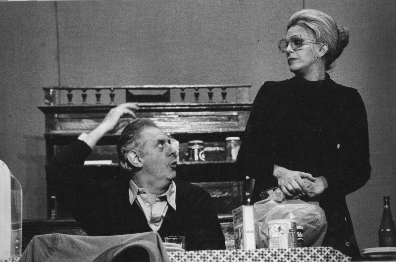 In scena con la compagna Franca Rame