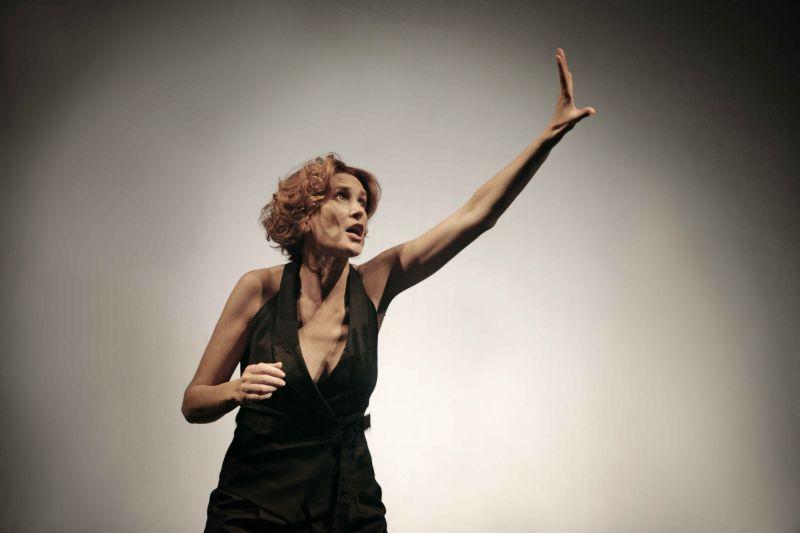 """Lucrezia Lante della Rovere in scena con """"Malamore"""" (foto Lovino)"""