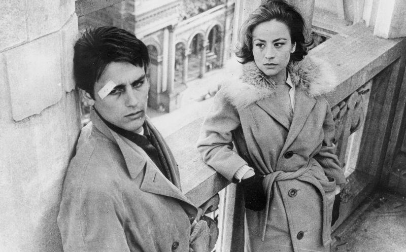 Alain Delon e Annie Girardot sul Duomo di Milano