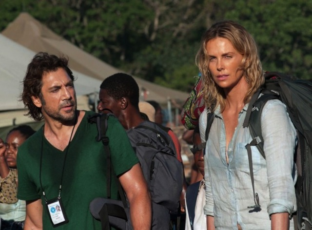 "Charlize Theron e Javier Bardem in ""The Last Face"""