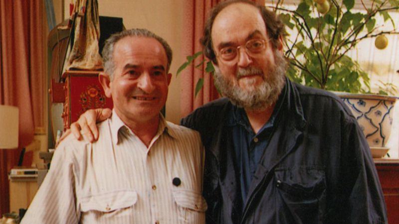 Emilio D'Alessandro insieme a Stanley Kubrick