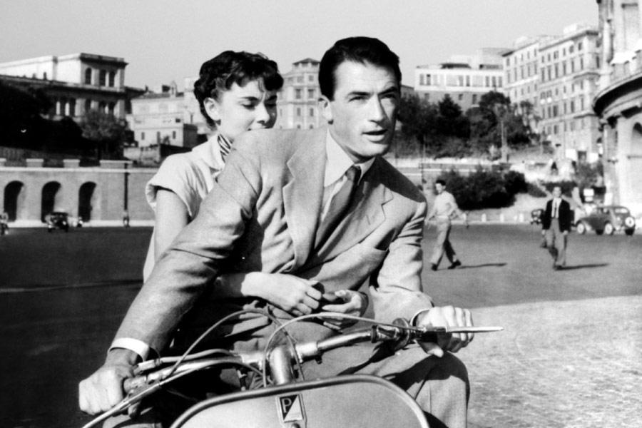 """Gregory Peck e Audrey Hepburn in """"Vacanze Romane"""""""