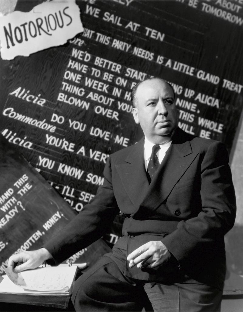 Director Alfred Hitchcock by Ernest Bachrach for Notorious, 1946. RKO © John Kobal Foundation