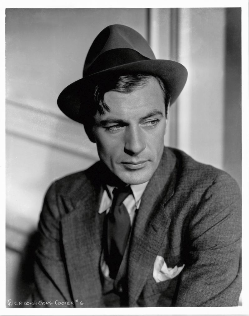 Gary Cooper by Bud Fraker for Mr. Deeds Goes to Town, 1936. Frank Capra Productions/Columbia Pictures © John Kobal Foundation