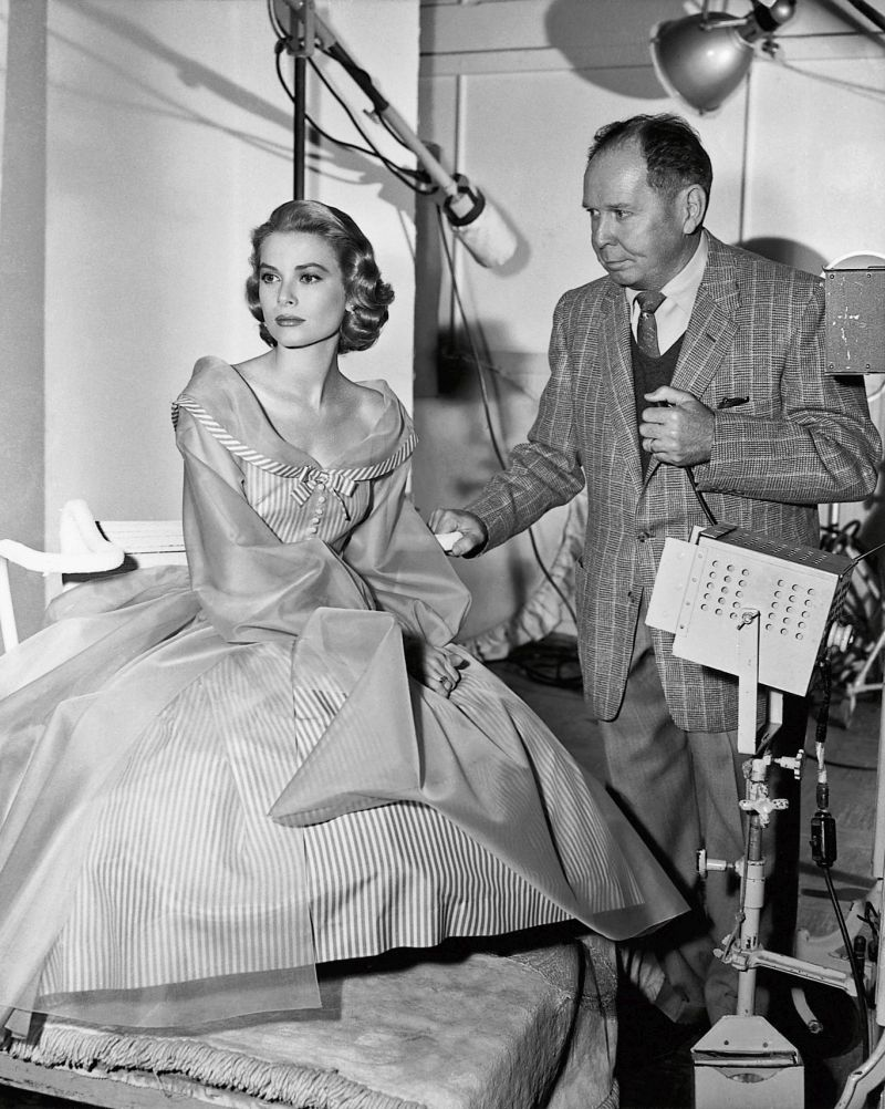 Grace Kelly and Clarence Sinclair Bull at Metro-Goldwyn-Mayer Studios, Culver City, by Virgil Apger, 1956 © John Kobal Foundation