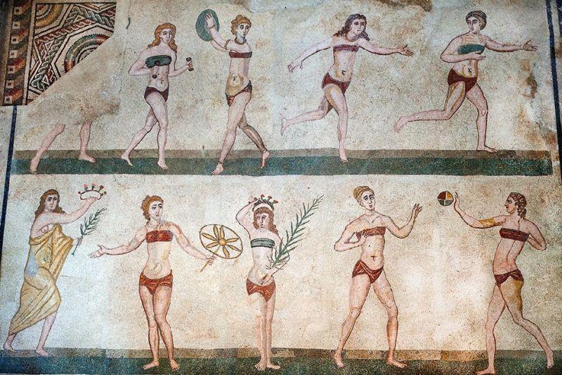 Il mosaico di Villa Romana