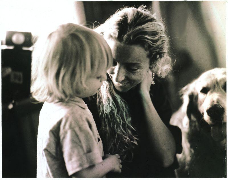 Franca Sozzani con suo figlio Francesco Carrozzini in una vecchia foto