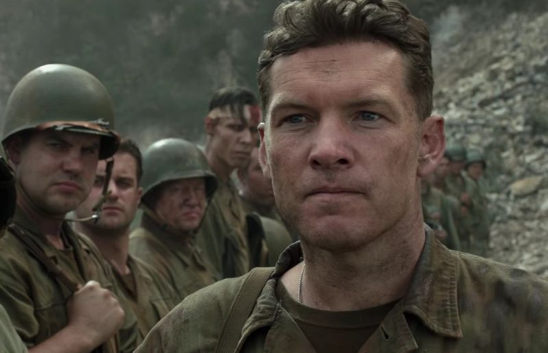 "Sam Worthington in ""Hacksaw Ridge"" di Mel Gibson"
