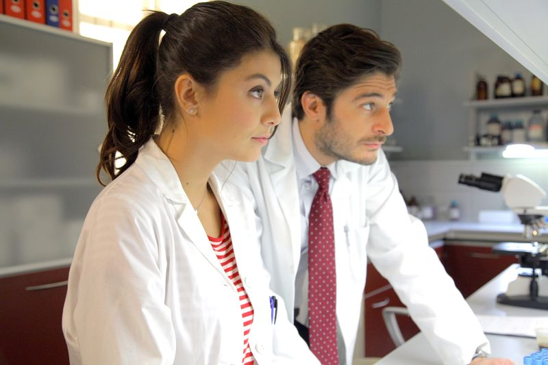 Alice e Claudio-Lino Guanciale (foto di P. Bruni)