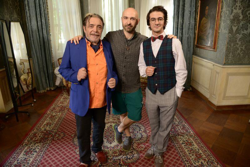 Maccio Capataonda sul set con Nino Frassica e Francesco Mandelli