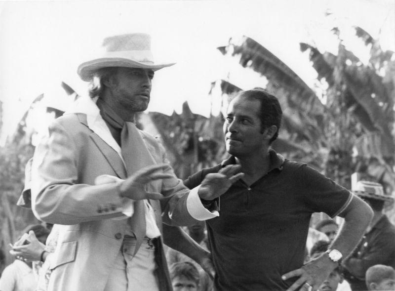 Con Brando sul set di Queimada, 1968
