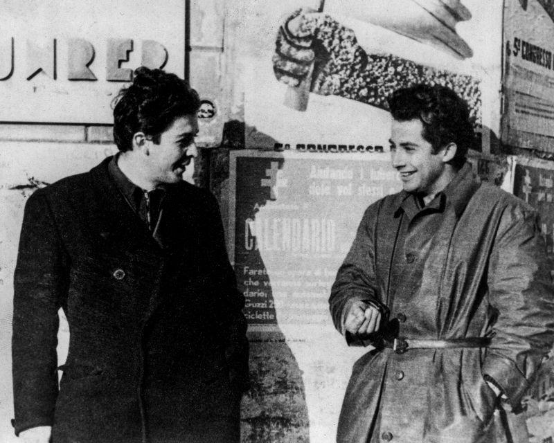 Con Enrico Berlinguer nell'inverno 1945 al Congresso PCI Milano