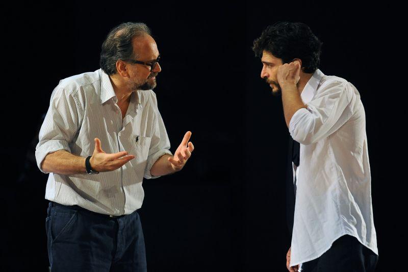 Massimo Popolizio e Lino Guanciale (foto Achille Le Pera)