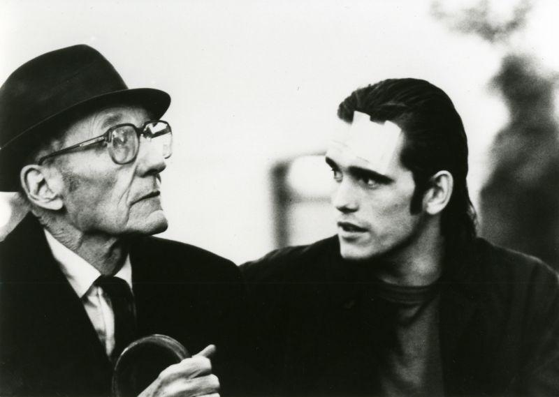 William S. Burroughs e Matt Dillon in Drugstore Cowboy di Gus Van Sant, 1987 © DR