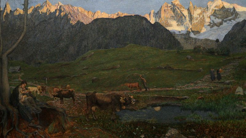 Trittico: La Vita Museo Segantini di Saint Moritz