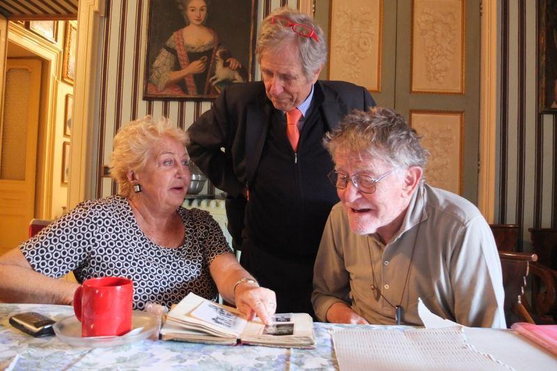 Maris, la sorella di Martini, con Marco Garzonion ed Ermanno Olmi