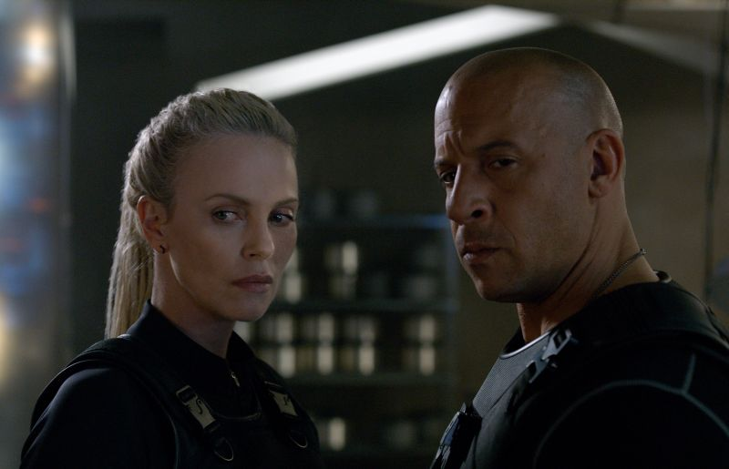 Charlize Theron e Vin Diesel