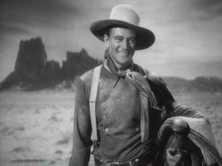"John Wayne nel celeberrimo ""Ombre Rosse"""