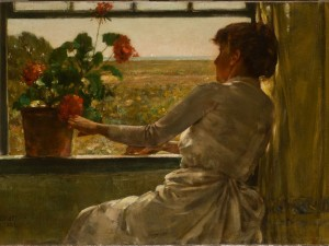 Summer Evening , 1886, Childe Hassam  - Florence Griswold Museum