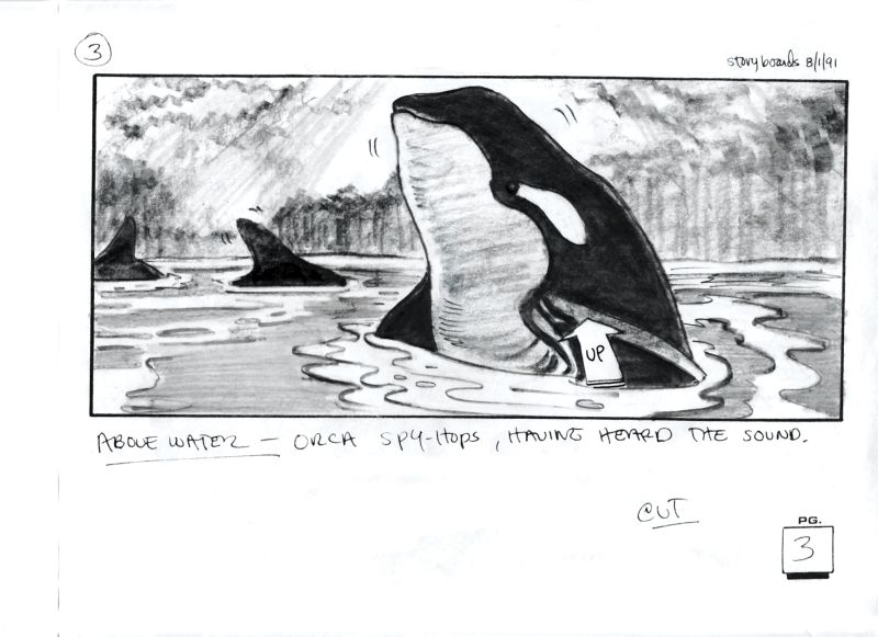 Free Willy - Un amico da salvare Free Willy Simon Wincer, USA,1993 Storyboard di/by David Russell Courtesy of David Russell