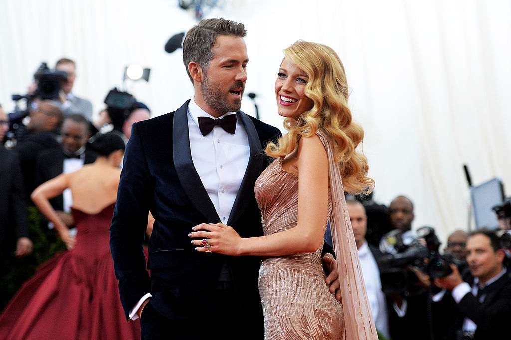 "NEW YORK, NY - MAY 05: Actors Ryan Reynolds (L) and Blake Lively attend the ""Charles James: Beyond Fashion"" Costume Institute Gala at the Metropolitan Museum of Art on May 5, 2014 in New York City. (Photo by Mike Coppola/Getty Images)"