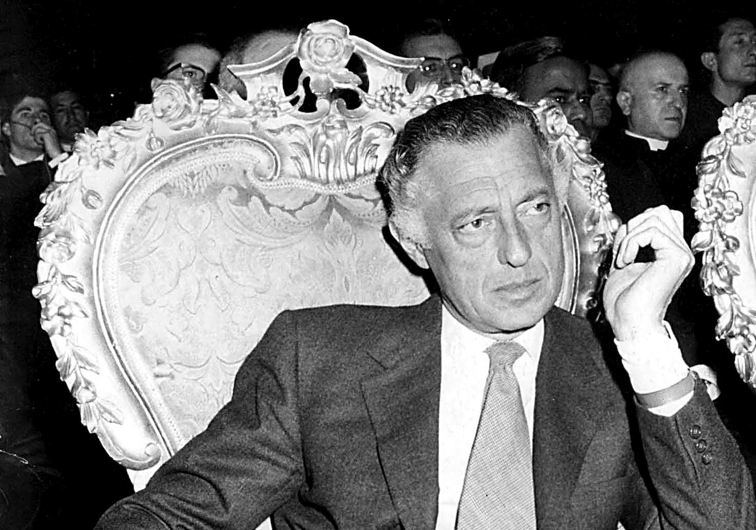 GIANNI AGNELLI  PRESIDENT OF THE FIAT PHOTO    1971 IN ROME