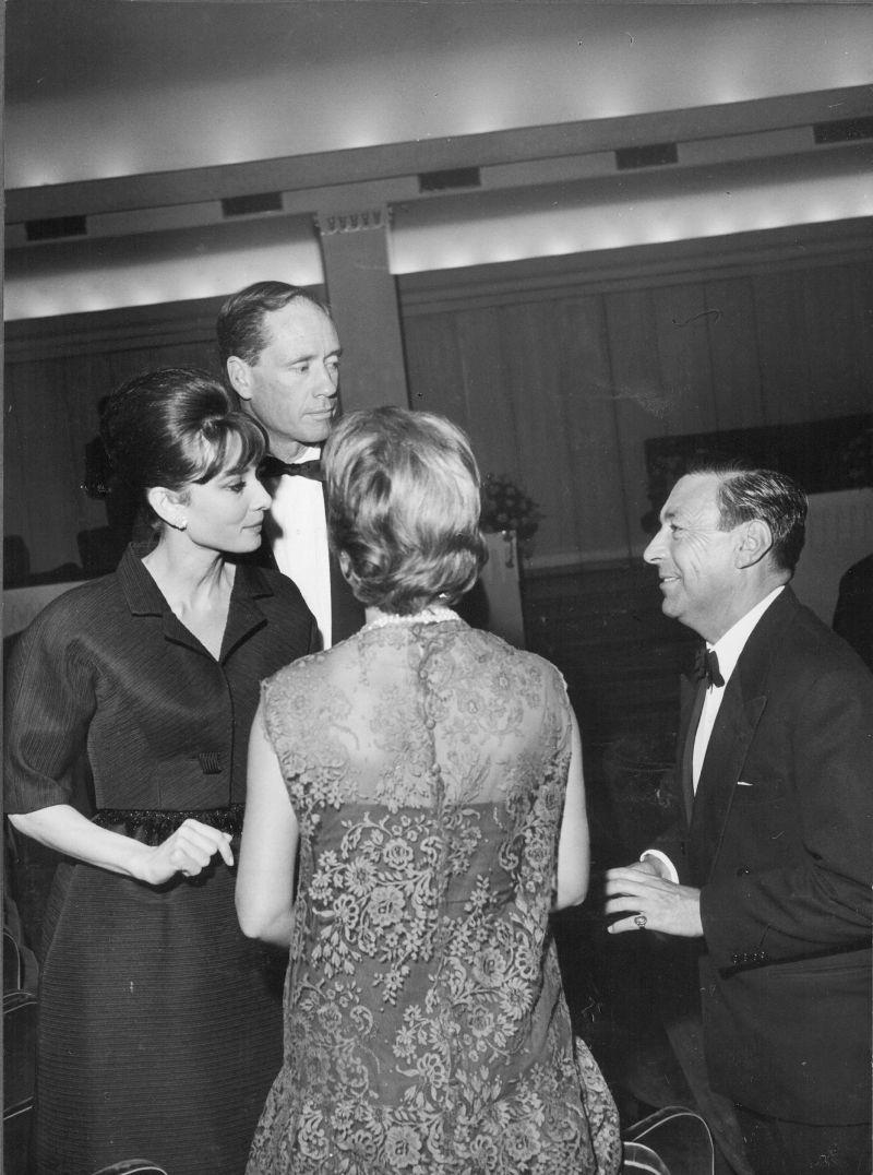 Audrey Hepburn, Mel Ferrer e Pilade Levi